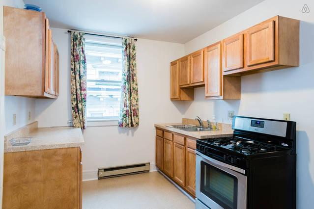2nd floor - large kitchen with gas stove and all cooking implements