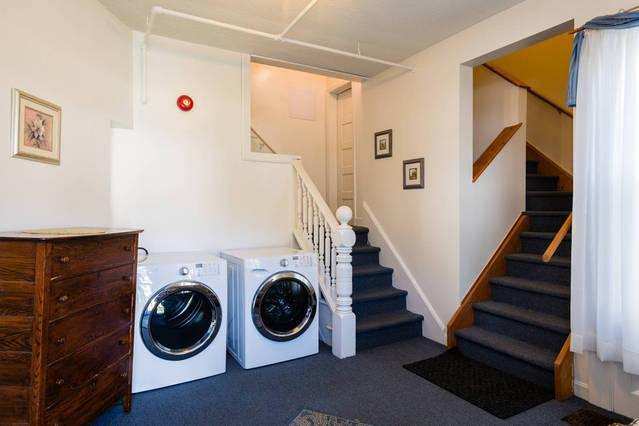 1st floor - washer and dryer to use during those longer stays.