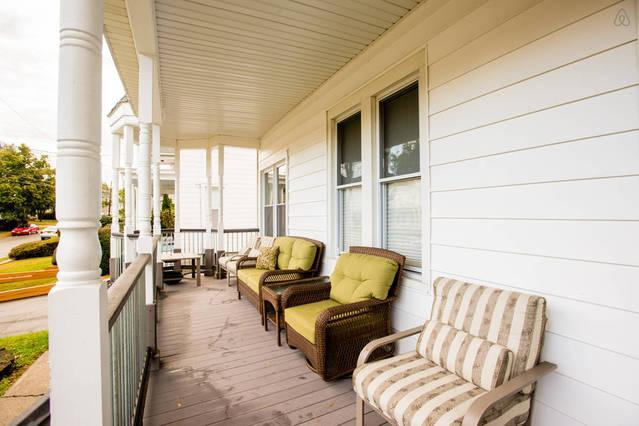 Relax on the front porch and enjoy the quiet sounds of the neighborhood