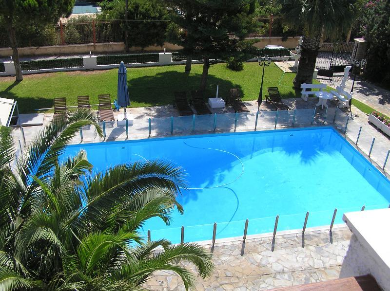 (100 meter square  surface) pool  (max. depth 3.30 meters),  (min. depth  1 meter)