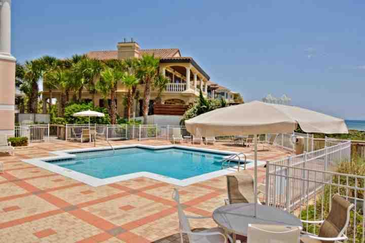 Blue Lupine amenities include wonderful outdoor pool, with plenty of seating for everyone to enjoy