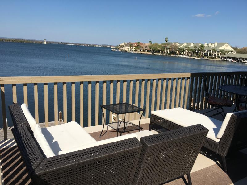 Gorgeous open water views from upper patio!