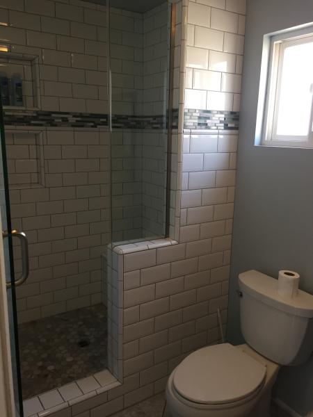 Middle Level Bathroom. Just added, New custom shower.