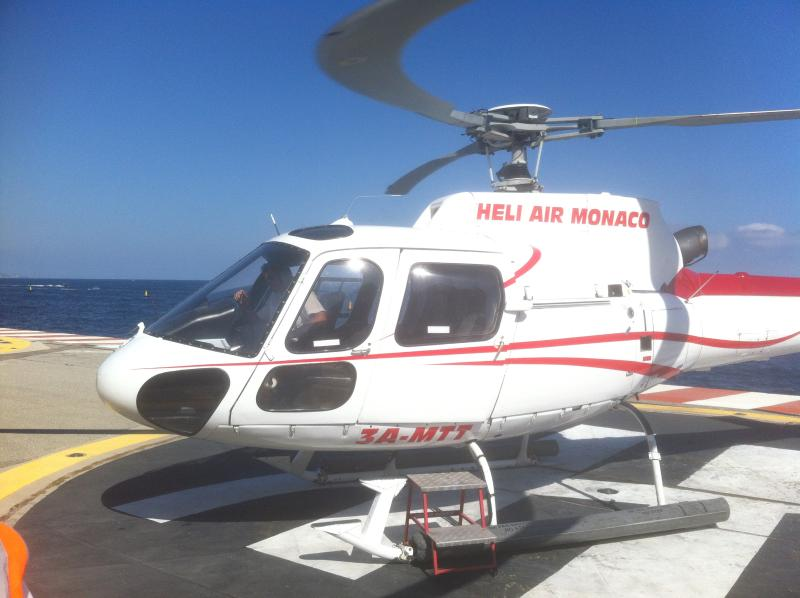 Arrive by helicopter from nice airport. 6 minute ride of your life