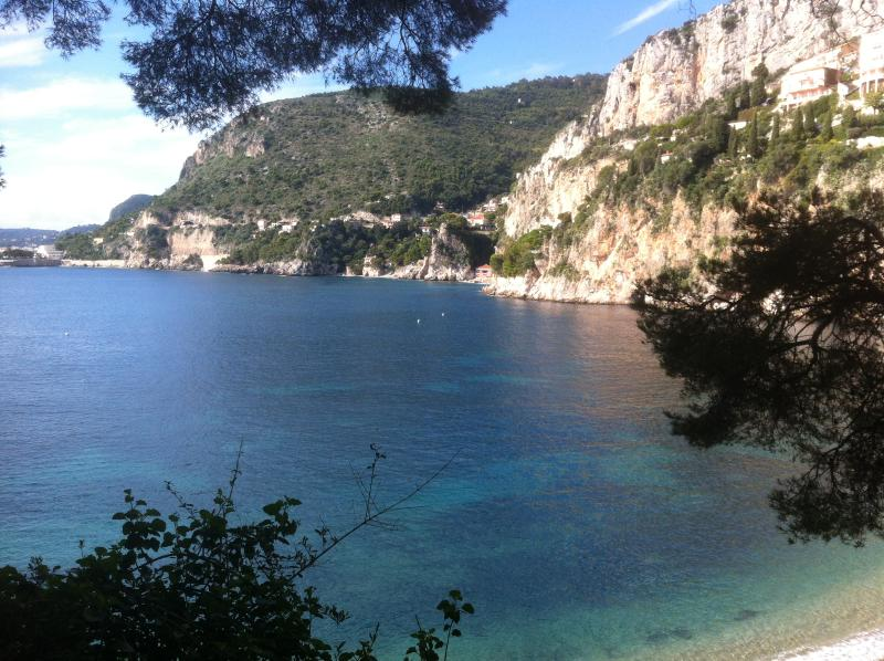 Mala beach is a beautiful place for lunch and is accessed by coastal path from Monaco