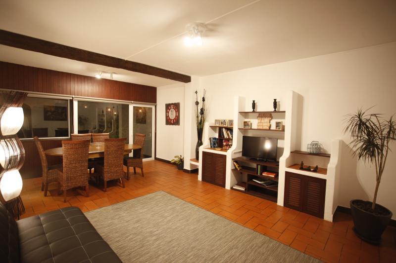living room in night