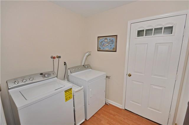 Laundry room, new washer & dryer, closet, utility cart