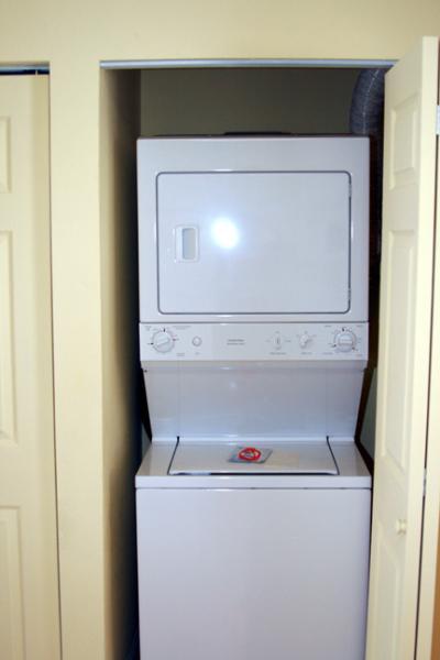 Washer/dryer in each unit