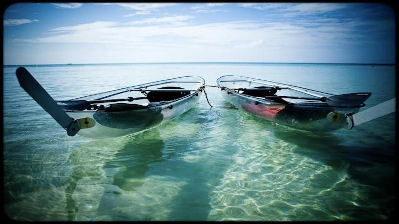 Beautiful Waters and glass bottom rental boats at West Bay