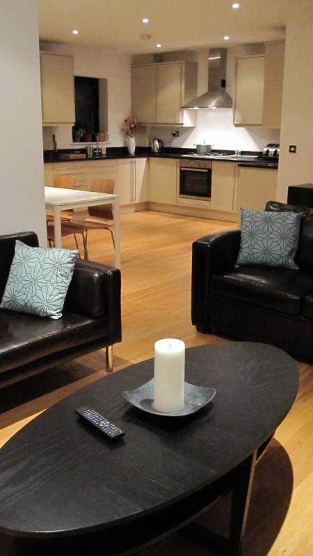 Open plan lounge, kitchen, dining