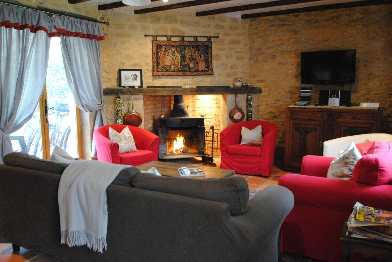 A cosy lounge for you to relax in winter or summer