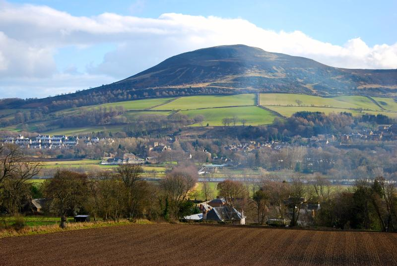 View across to Melrose and the Eildon Hills from Gattonside
