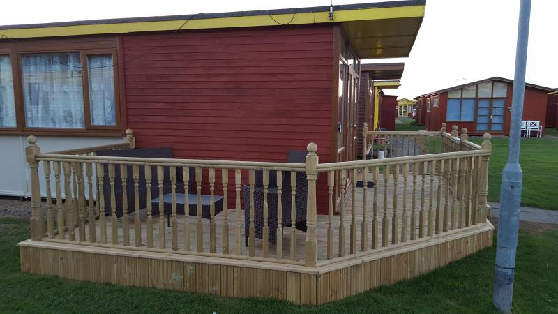 outside decking area.
