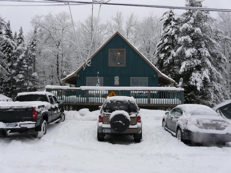 Invierno en Old Forge, Capitol moto de nieve del este.