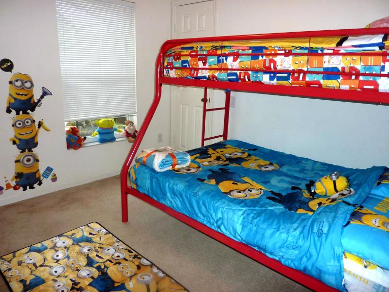 Twin over full room, choice of character bedding, PS3/TV