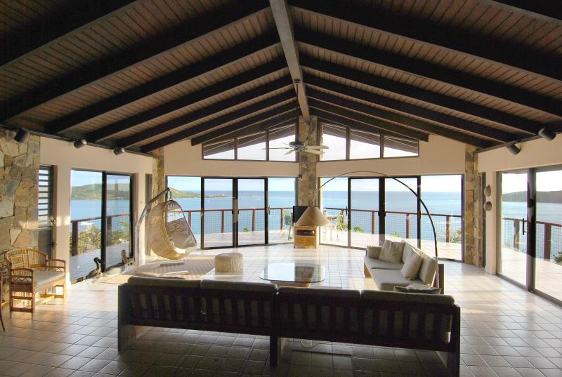 You'll enjoy Views from every room. The Great Room with all doors to the deck.