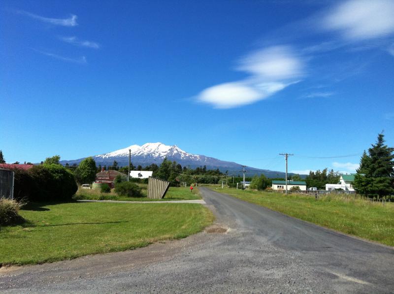 Mt Ruapehu view from Rangataua township