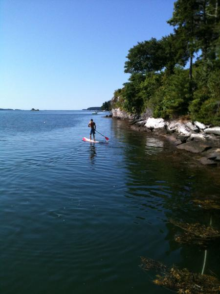 Westport Island and Sheepscot Bay are wonderful paddle boarding, kayaking and Boating areas.