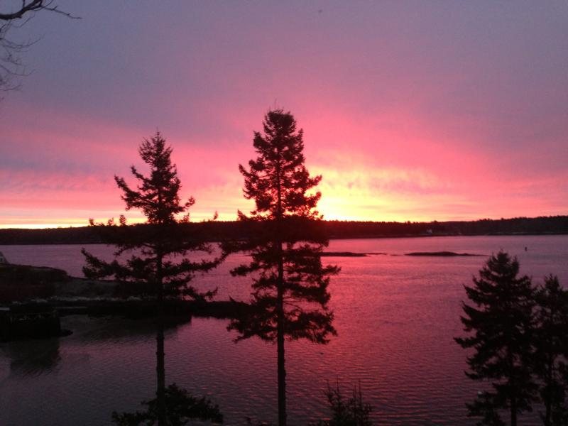 Glorious sunrises over Sheepscot Bay