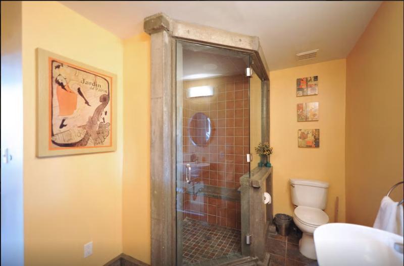 1st Bathroom- Steam Shower!
