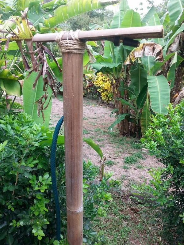 Our tropical outdoor shower for light refreshments during the day