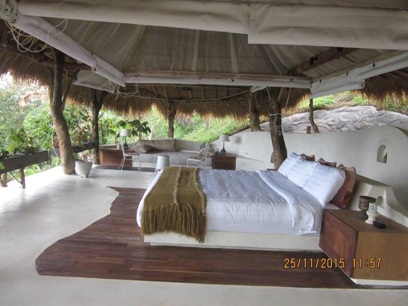 Beautiful, large open air bedroom.