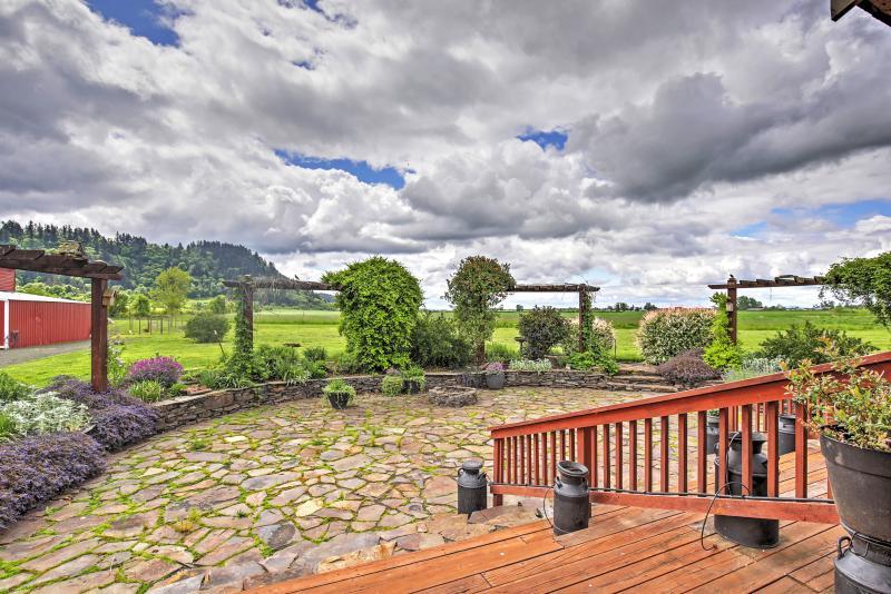Estos son vistas vistos desde la casa principal de la propiedad.