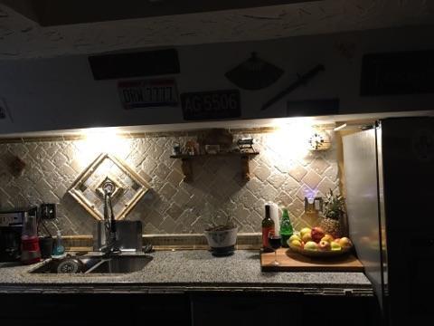 Basement kitchen counter