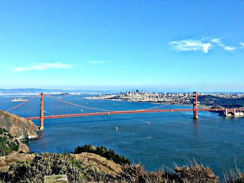 San Francisco Bay 30 miles away
