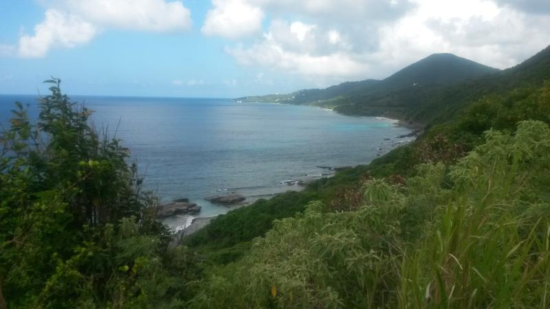 View Looking Back Toward Carambola While Hiking To The Tide Pools.