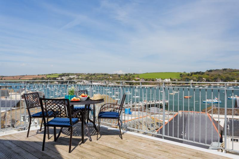 Sailor's Penthouse has a huge roof terrace with amazing views across the bay