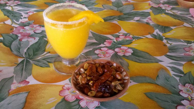Rancho Pitaya is famous for its homemade mezcal margaritas.