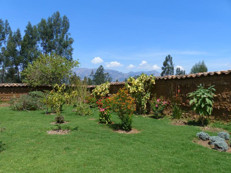 Breakfast and humming birds garden