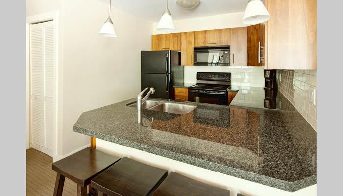 La cocina grande y moderna es ideal para preparar comidas.