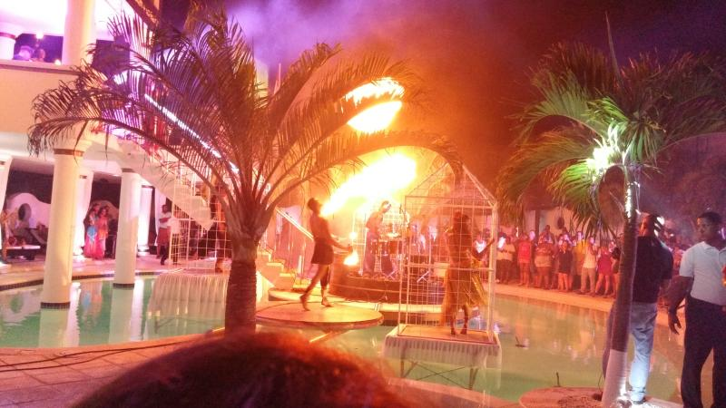 One of the fabulous shows. This is in the VIP World pool