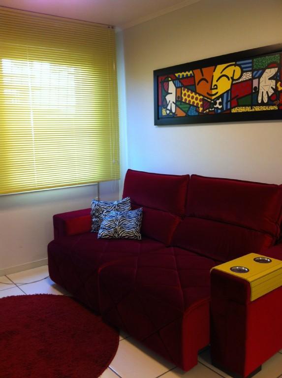 Sofá cama da sala, com chaise retrátil
