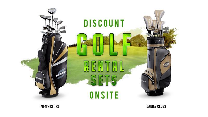 Discount Golf Rental Sets Onsite