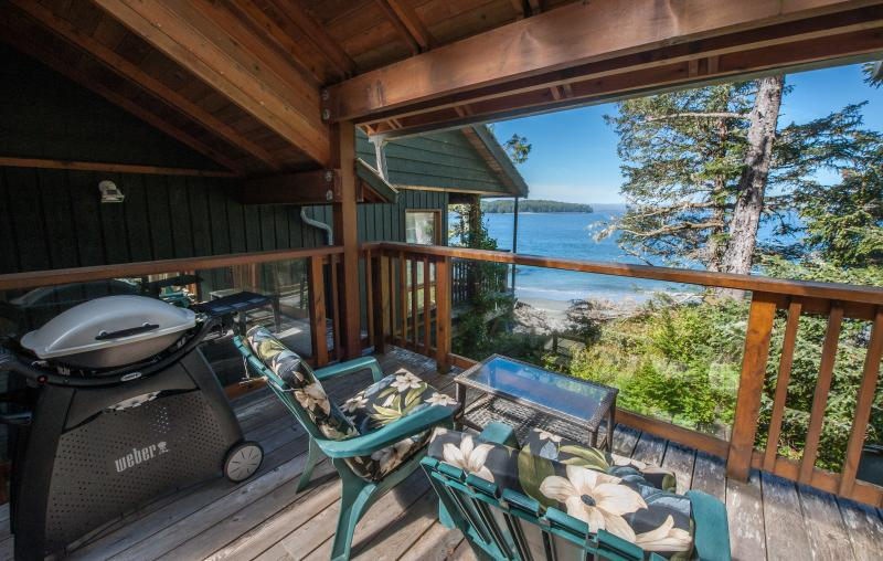 Private Ocean-view Deck, Lounge Chairs and BBQ