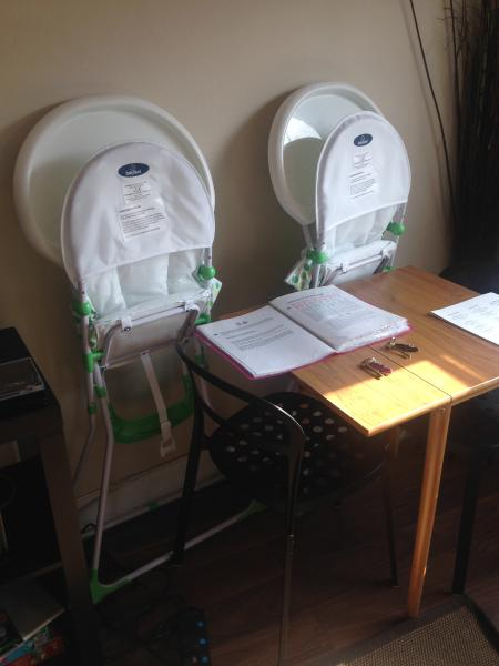 Baby cot and high chair available for FREE