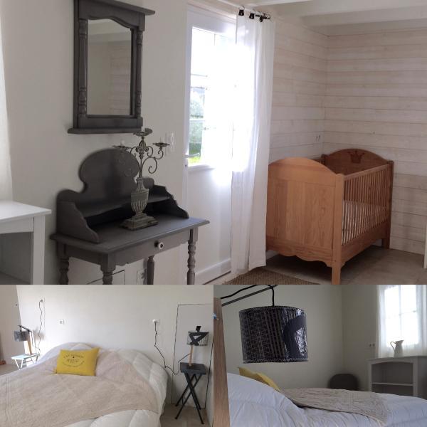 la chambre grise 727, un lit double et deux lits bébés/très jeunes enfants