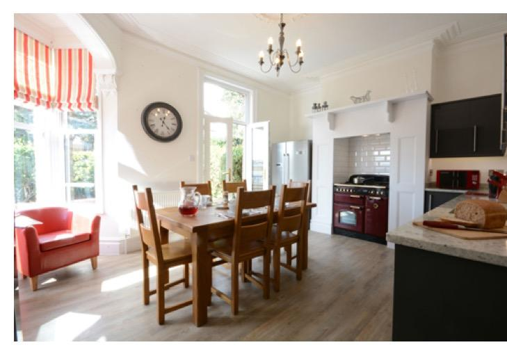 Fantastic, bright kitchen/ diner with granite worktops, American fridge freezer and range cooker.