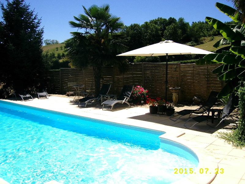 Cottage/Views! Private, heated pool. Pets Welcome!, vacation rental in Juillac