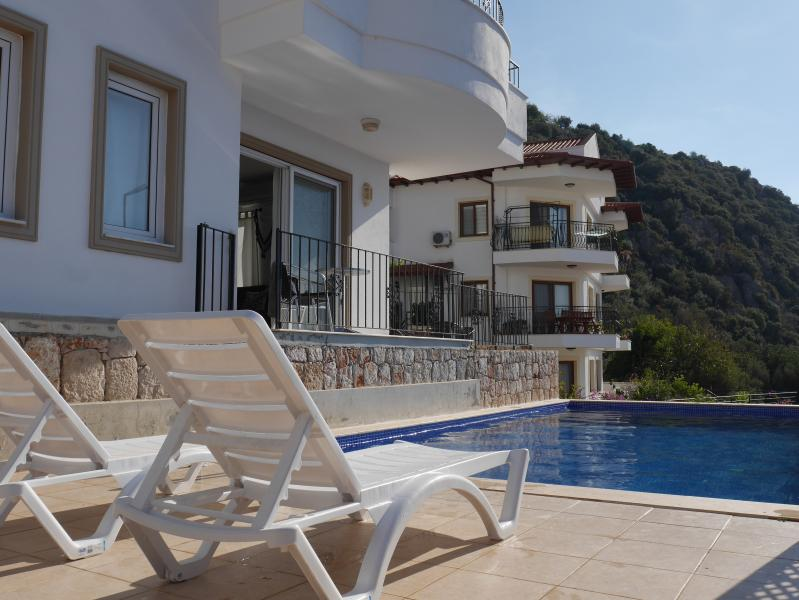 the apartment has direct access to the swimming-pool