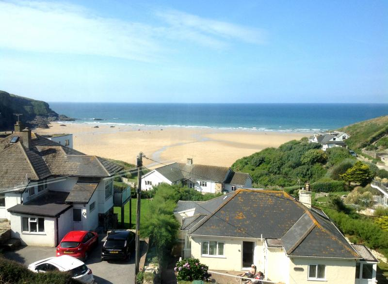 Beautiful view of Mawgan Porth beach from the house.