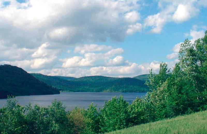 The Cannonsville Reservoir Looking South toward the Dam