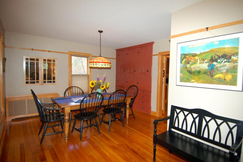 The Entry Foyer and Dining Room