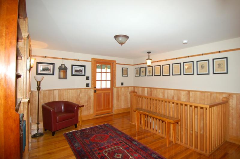 The Second Floor Sitting Area with Porch Access
