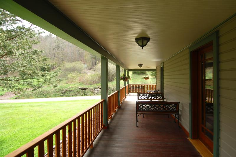 One side of the Wrap-Around Porch