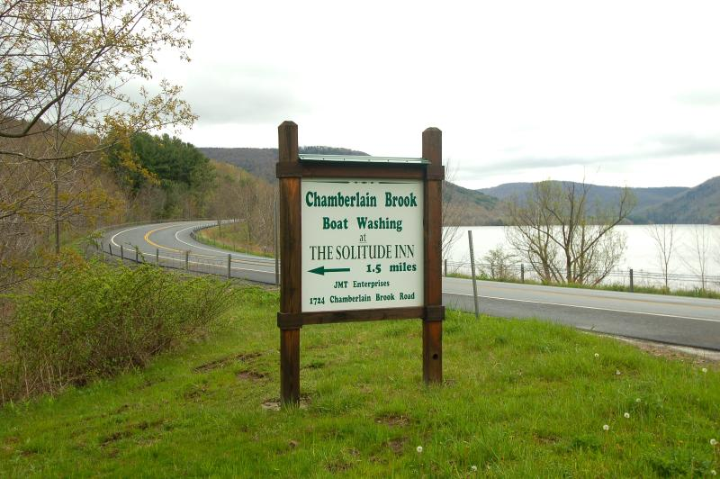 Sign at the Intersection of Chamberlain Brook Road and NYS Route 10