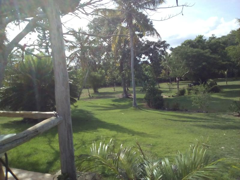 The home is located on a large piece of property with well maintained gardens.